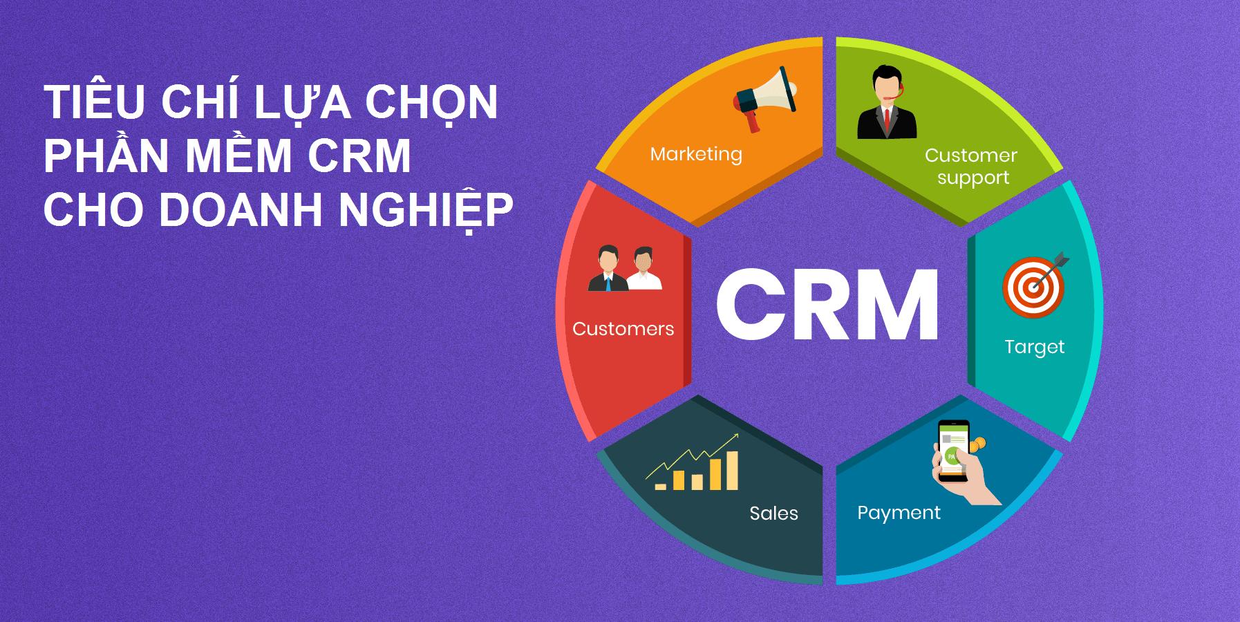 Tiêu chí lựa chọn phần mềm CRM phù hợp với doanh nghiệp của bạn