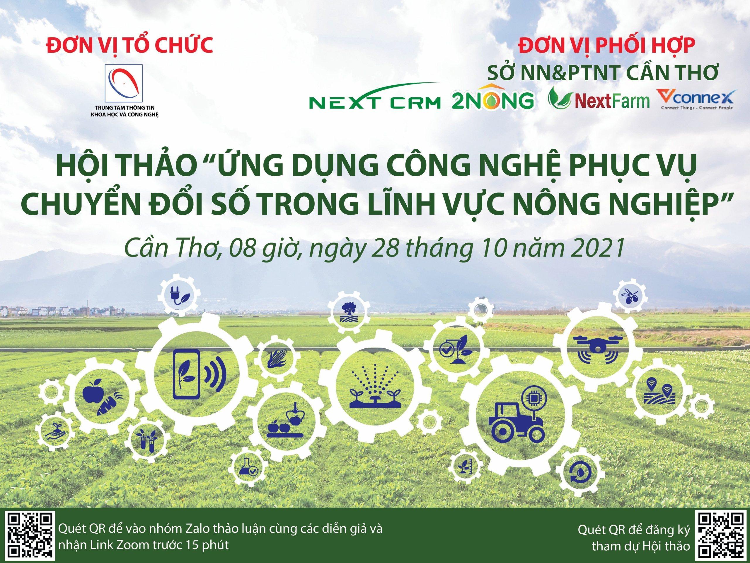 NEXTCRM phối hợp với Sở KH&CN Cần Thơ tổ chức Hội thảo về Chuyển đổi số bán hàng nông sản qua sàn TMĐT